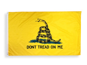 Gadsden Flag Dont Tread On Me Flag 3x5 Foot Flag, Polyester Tea Party Rattle Snake Banner with Grommets 3x5 Double Stitched
