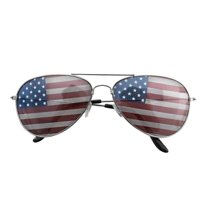 Aviator Unisex Sunglasses with Print Patterned Lens for Sun Protection, Driving, Eye Wear Silver