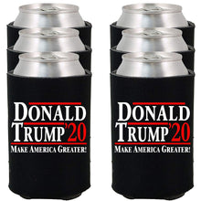 Load image into Gallery viewer, Donald Trump 2020 | Make America Greater ~ Political Drink Koozies (Black, 6) Black