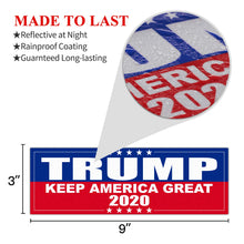 Load image into Gallery viewer, 9 X 3 inch Keep America Great Decal - Car and Truck Reflective Bumper Stickers