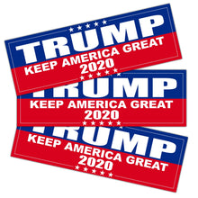 Load image into Gallery viewer, 9 X 3 inch Trump 2020 Keep America Great Decal - Car and Truck Reflective Bumper Stickers - 2020 United States Presidential Election (3 Pack) Keep America Great 2020