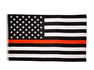 Thin Red Line Flag 3x5 | Firefighter Flag | Thin Line Flag 3x5 | First Responder Flag | Firefighter American Flag | Firefighter Red Line Flag | Firefighters Flag | American Flag Red Line
