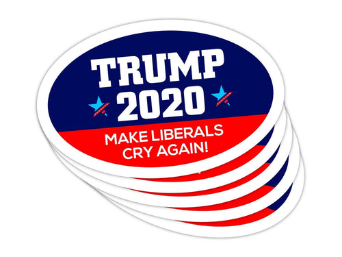 5-Pack of Oval Car Magnets | Make Liberals Cry Again