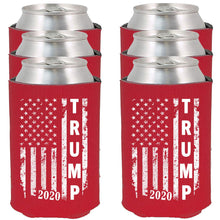 Load image into Gallery viewer, Trump 2020 |  Red Can Koozie Political Drink Coolers (Red, 6)