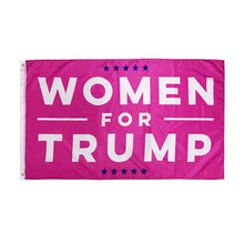 Load image into Gallery viewer, Donald Trump Flag 3x5 Women for Trump USA Authentic Large Hot Pink Make America Great Again Polyester US President Flag
