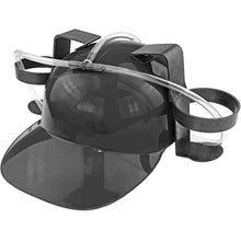 Load image into Gallery viewer, Beer Soda Guzzler Helmet Drinking Party Hat - Black