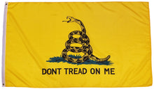 Load image into Gallery viewer, Gadsden Flag Dont Tread On Me Flag 3x5 Foot Flag, Polyester Tea Party Rattle Snake Banner with Grommets 3x5 Double Stitched
