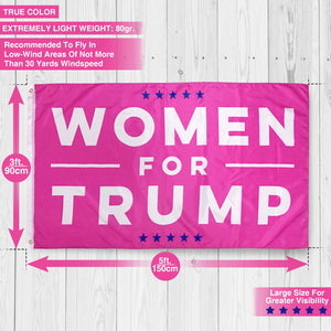 Women for Trump USA Authentic Large Hot Pink Make America Great Again Polyester US President Flag