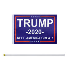 Load image into Gallery viewer, 50 Pack Donald Trump Flag for President 2020 Keep America Great Flag Small Mini Hand Held Stick Flags Banner Make America Great for Party Decorations,Parades,Election Day Celebration Event