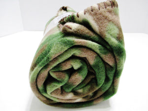Camouflauge Fleece Throw Blanket 50in X 60in - Camo Design