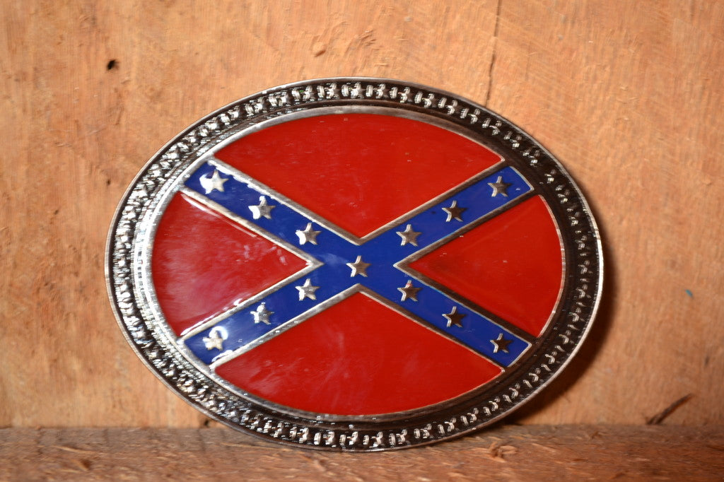 Confederate Battle Flag Belt Buckle | Rebel Flag Buckle