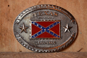 Texas Confederate Flag Belt Buckle | Rebel Flag Buckle