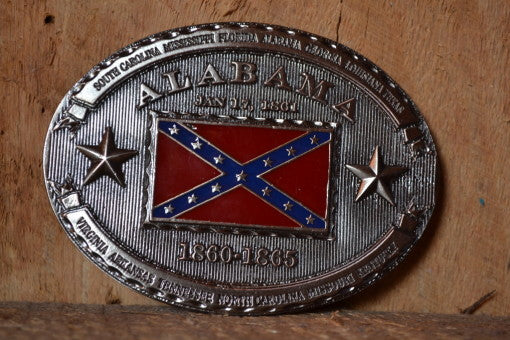 'Bama Confederate Belt Buckle
