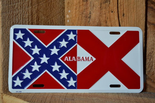 Alabama Confederate Front Plate | Rebel License Plate