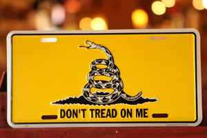 Don't Tread On Me Front Plate | Gadsden License Plate