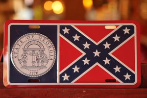 Old Georgia Confederate Front Plate | Rebel License Plate