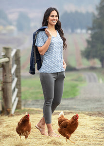 CHAMBRAY HORSE MEADOW::variant::Whisper Smocked Top