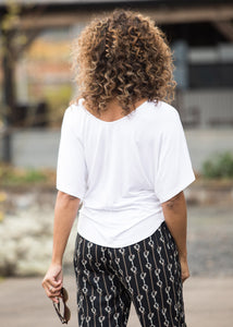 SOFT WHITE::variant::Luxe Dolman Top Front View