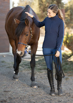Blue Equestrian Apparel for Women and Kids