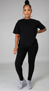 Legging Pant Set - Black