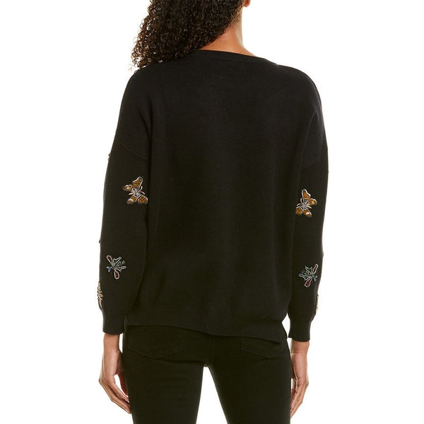 EMBELLISHED PATCH SWEATER