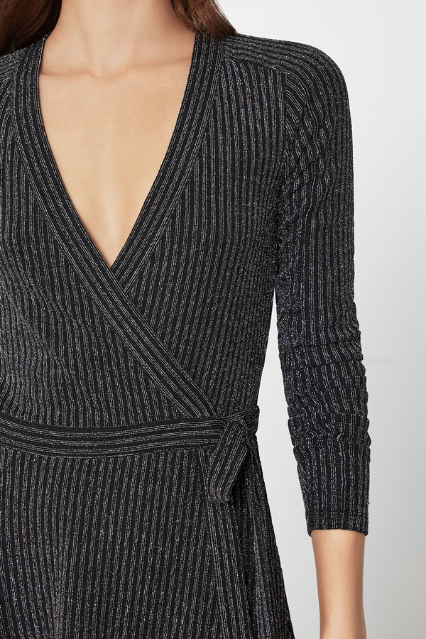 Rib Knit Wrap Dress