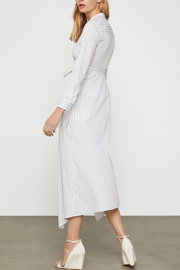 Cotton Stripe Wrap Dress