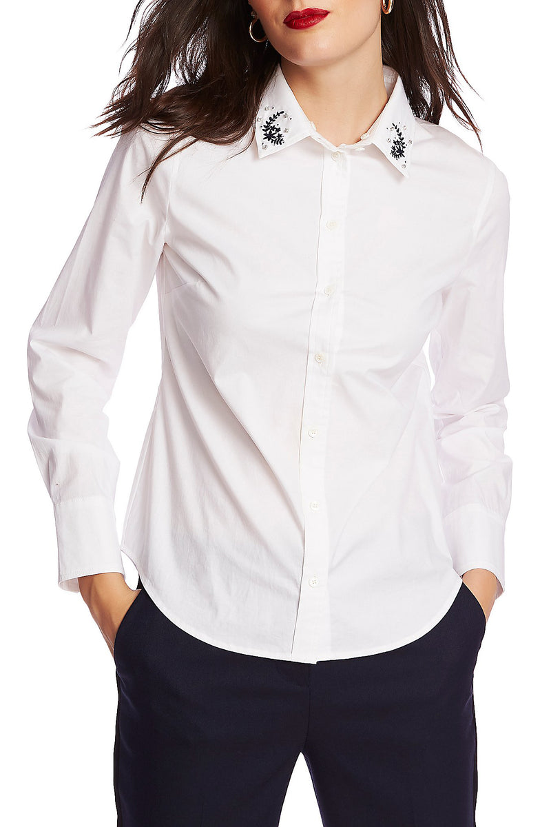 Candice Collar Button-Up