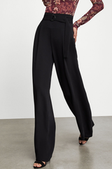 Belted Wide-Leg Pant