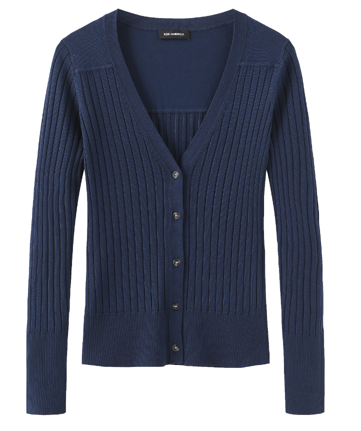 Fitted Rib Cardigan