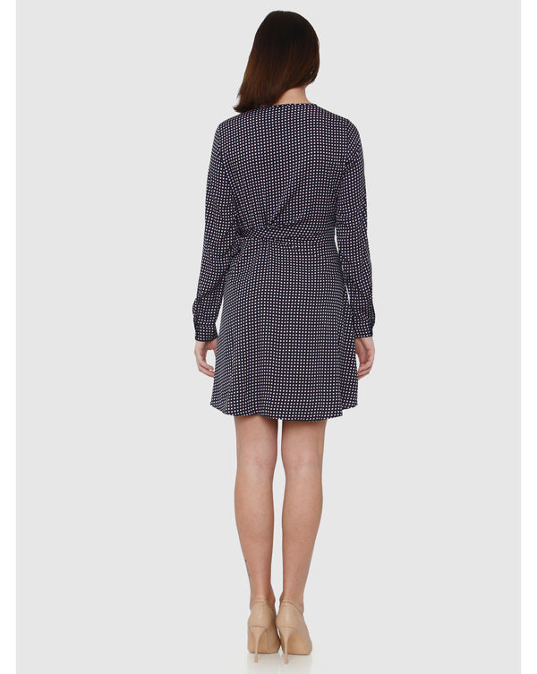 Square Tie Short Woven Dress | FINAL SALE