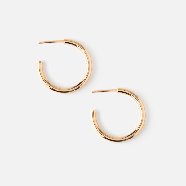 Chunky Mid Size Hoop Earrings