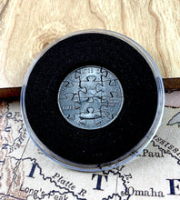 Load image into Gallery viewer, Handmade State Quarter Puzzle Coin - 12 Piece Iowa