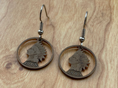 Indian Head Earrings