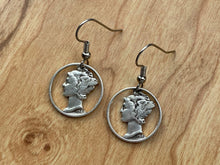 Load image into Gallery viewer, Mercury Dime Earrings Version 2.0