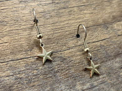 Texas Star Charm Earrings