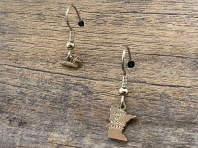 Minnesota Mismatched Charm Earrings
