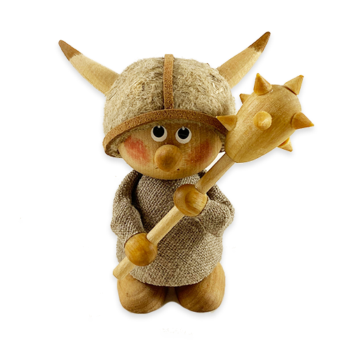Little Viking Wooden Figurine