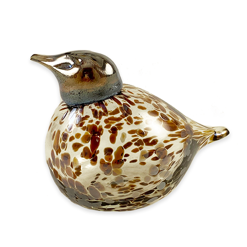 """Bird Style: A"" Glass Decor Piece, Finland"