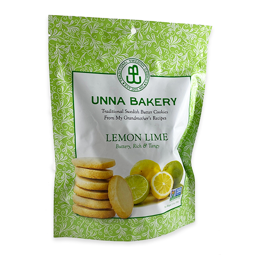 Lemon Lime Swedish Butter Cookies