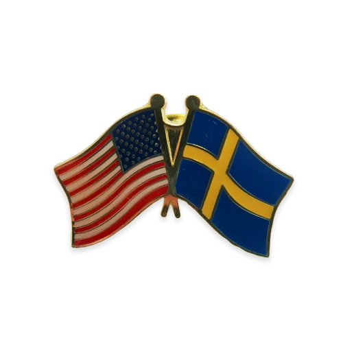 Friendship Lapel - USA/Sweden