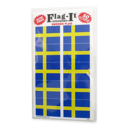 Swedish Flag Sticker (50)