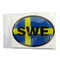 Oval Decal - Swedish Flag