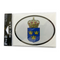 Oval Decal - Swedish Crown
