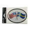 Oval Decal - Sweden/USA Friendship