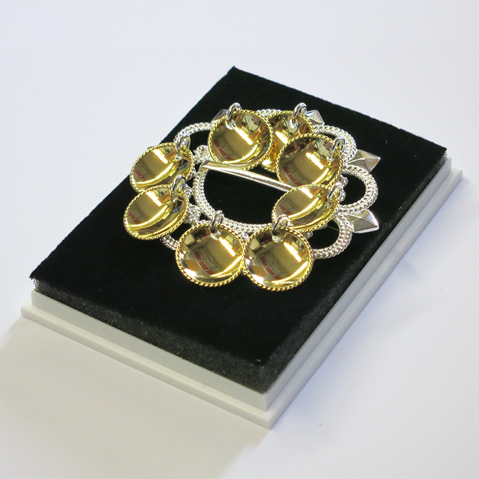 Sølje Brooch with Gold-Plated Dishes