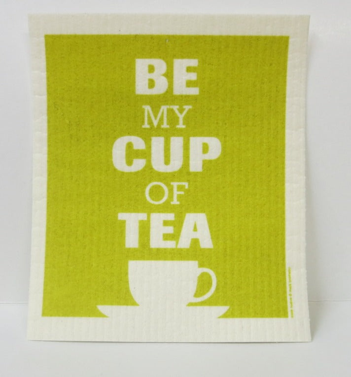 """Cup of Tea"" Swedish Dishcloth"