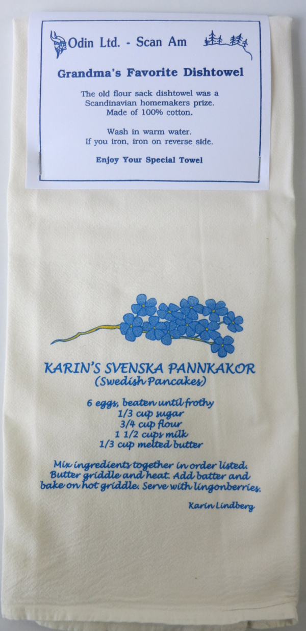 Grandma's Favorite Dishtowel- Swedish Pancakes