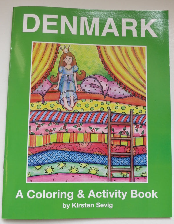 Denmark Coloring & Activity Book