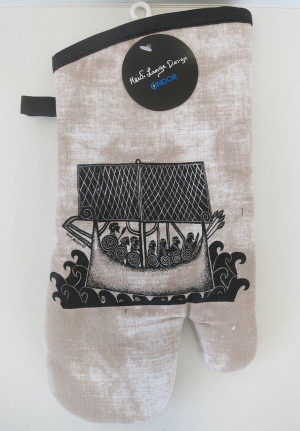 "Heidi Lange Design ""Viking Ship"" Oven Mitt"